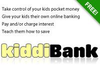 kiddiBank - free online banking for your kids
